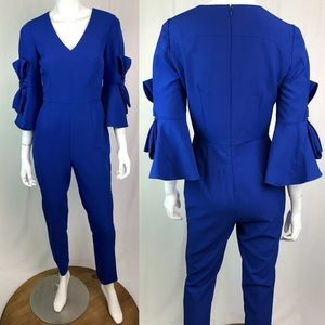 Antonio Melani Bell Bow Sleeve Tailored Jumpsuit